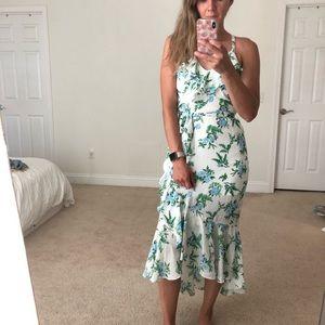 Midi ruffle dress with floral print
